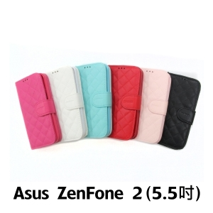 【GAMAX 嘉瑪仕】小香款菱格側掀套 ASUS ZenFone 2 (5.5吋)