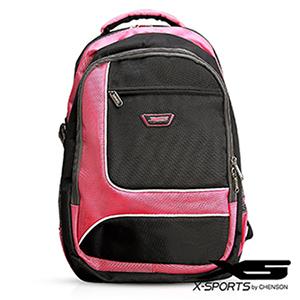 後背包 可放13吋筆電 積木拼色後背包包 X-SPORTS 粉紅(CG20510-3P)