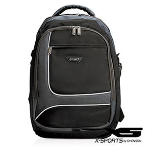 後背包 可放13吋筆電 積木拼色後背包包 X-SPORTS 灰(CG20510-31)