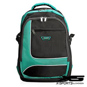 後背包 可放13吋筆電 積木拼色後背包包 X-SPORTS 綠(CG20510-35)