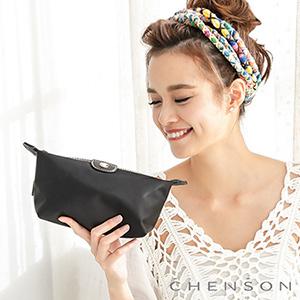 CHENSON 時尚旅行[牛角機場系列]化妝收納包 黑(CG20753-3)