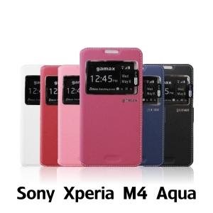 【GAMAX 嘉瑪仕】視窗商務側掀套 Sony Xperia M4 Aqua
