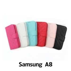 【GAMAX 嘉瑪仕】小香款菱格側掀套 Samsung A8