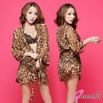 【Gaoria】求愛女王 性感豹紋三件式 情趣睡衣(N3-0010)
