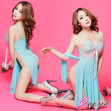 【Gaoria】妖媚人心 拼接 透明情趣睡裙睡衣 綠(N3-0013)