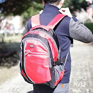 X-SPORTS 運動休閒多功能減壓背帶雙肩包 紅(CG20509-3R)