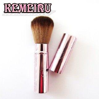 【KEMEIRU】粉紅款伸縮式收納腮紅刷A356