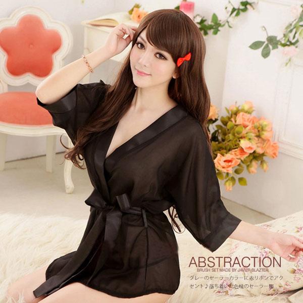 【JWEI】花漾女人.薄紗二件式外罩衫(黑)(CF-19150743)