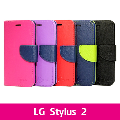 【CHENG TAI】撞色側掀站套 LG Stylus 2
