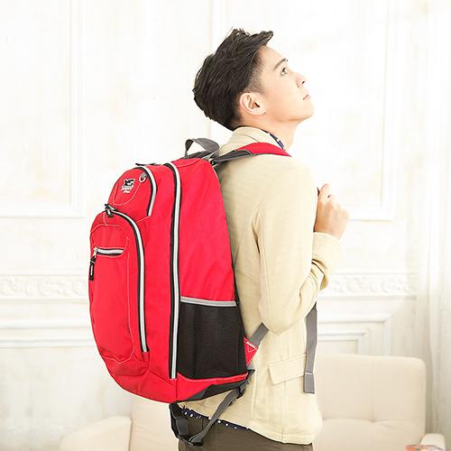 X-SPORTS 愛出遊背包客 【特大號】多夾層後背包 紅(CG20861-R3)