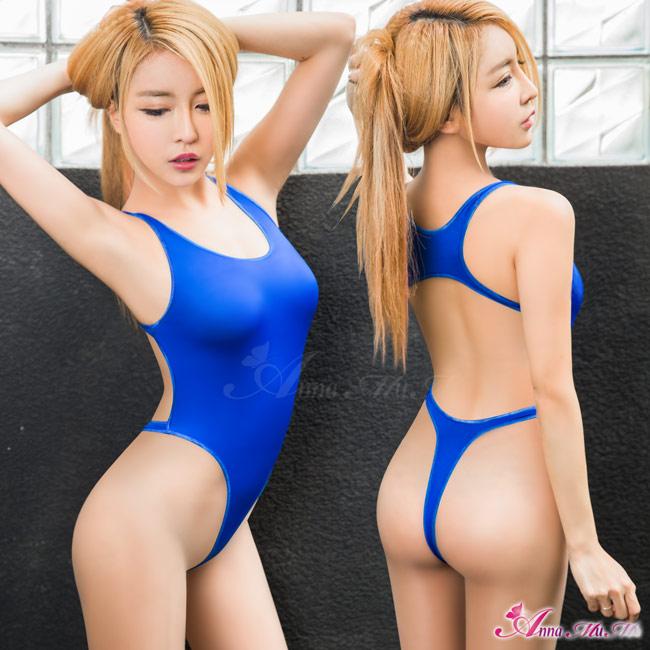 【Anna Mu】海洋藍美背高衩死庫水連身衣(NA16030075)
