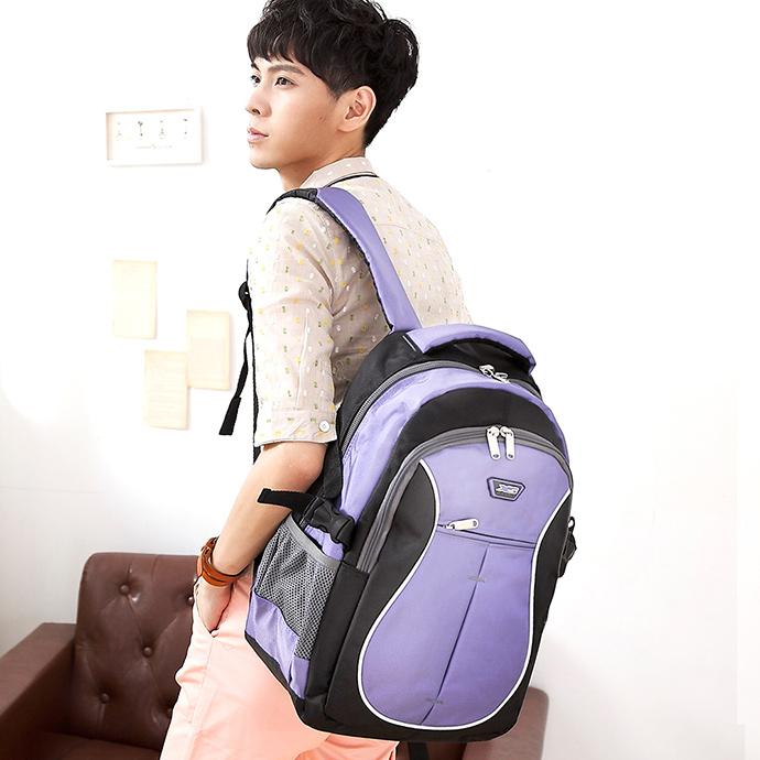 X-SPORTS 保護肩膀 厚x寬背帶後背包U型 紫(CG20511-3Q)